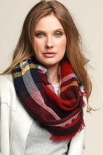 Load image into Gallery viewer, CALL IT FALL INFINITY SCARF-BURGUNDY - Infinity Raine