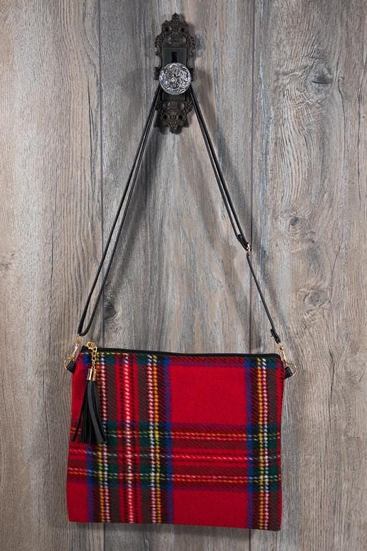 BONFIRE BABE FLANNEL CLUTCH-RED - Infinity Raine