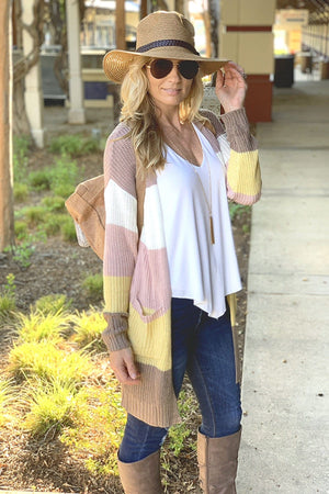 CHANGE OF SEASON KNIT CARDIGAN-MULTI - Infinity Raine