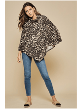 Load image into Gallery viewer, WILD CARD LEOPARD PONCHO - Infinity Raine