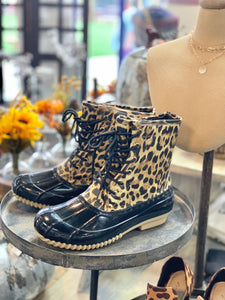 RAIN OR SHINE LEOPARD RAIN BOOTIES - Infinity Raine