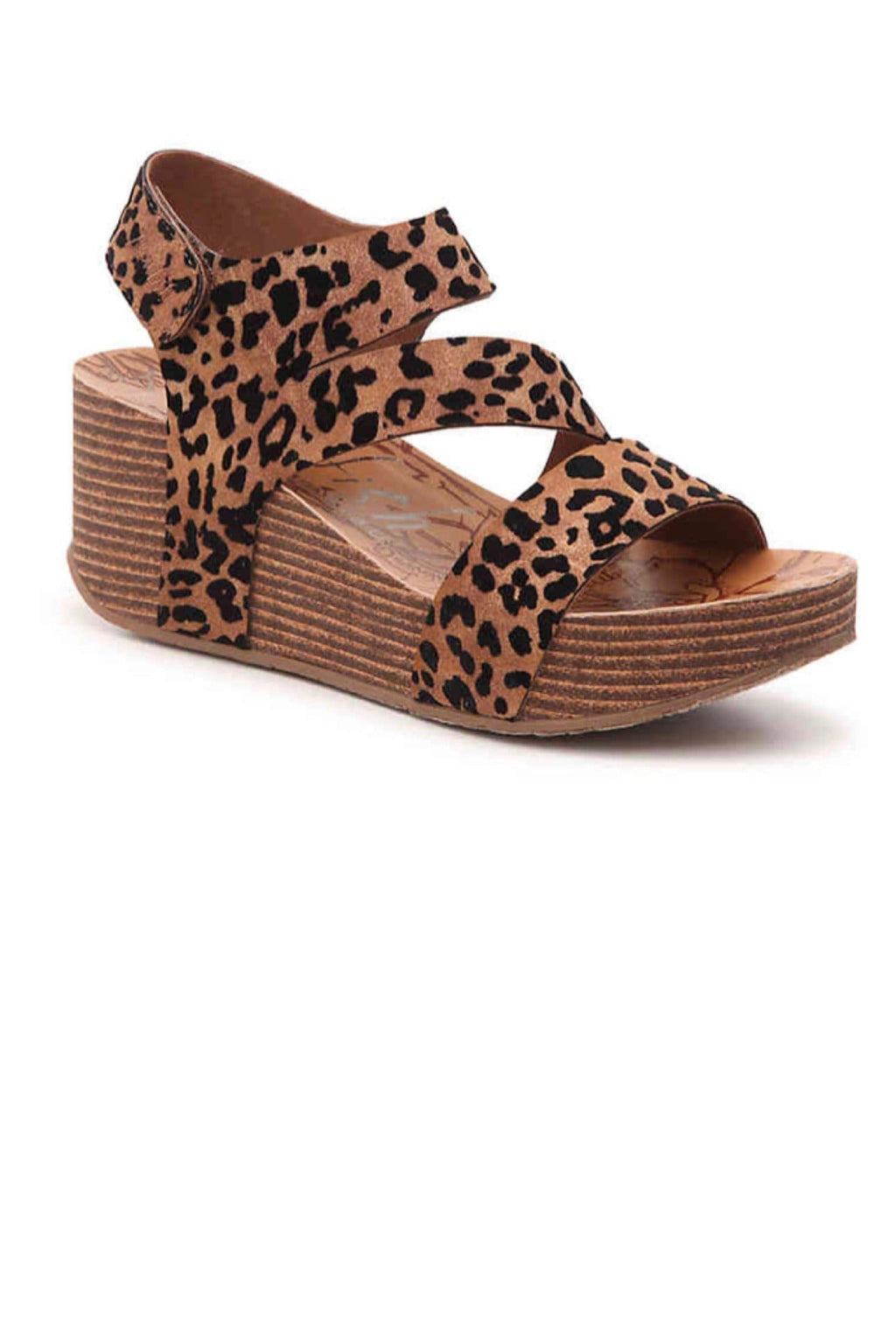 BLOWFISH LEOPARD WEDGE SANDALS - Infinity Raine
