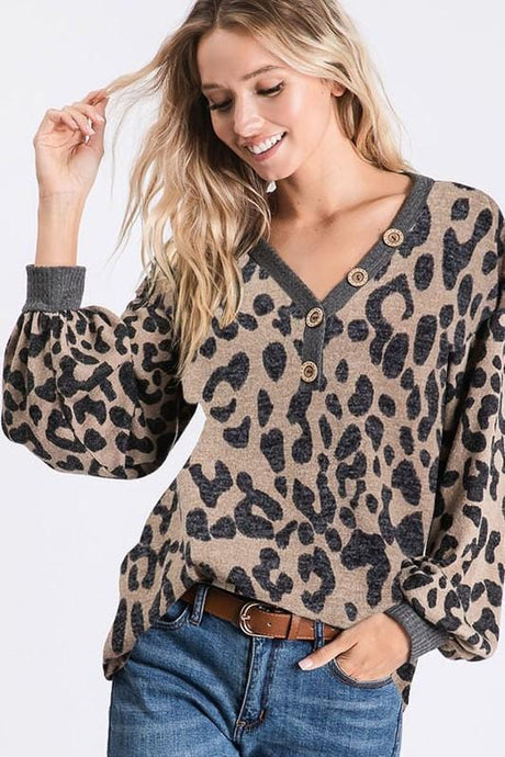 CHILL DAY LEOPARD PRINT TOP - Infinity Raine