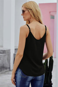 SIMPLE BUT CHIC BUTTON-UP CAMI-BLACK - Infinity Raine