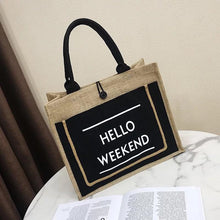 Load image into Gallery viewer, HELLO WEEKEND JUTE TOTE - Infinity Raine