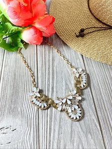 MADE FOR ME STATEMENT NECKLACE-OFF WHITE - Infinity Raine