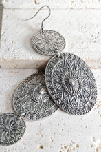 Load image into Gallery viewer, SIMPLY MARVELOUS BOHEMIAN MANDALA EARRINGS-SILVER - Infinity Raine