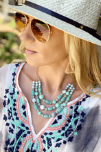 Load image into Gallery viewer, BEADED YOU TO IT BEADED CRYSTAL NECKLACE SET-AQUA BLUE - Infinity Raine