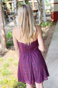 ROMANCE ME LACE DRESS-PLUM - Infinity Raine