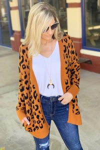 YOU GOTTA BE KITTEN ME SWEATER CARDIGAN-CAMEL - Infinity Raine