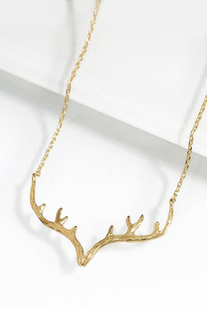 YOUR A DEER ANTLER NECKLACE-GOLD - Infinity Raine