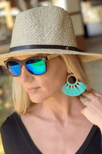 Load image into Gallery viewer, YOUR BIGGEST FAN TASSEL EARRINGS-TEAL - Infinity Raine