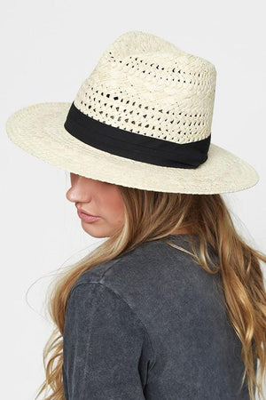 A DAY IN THE PARK RUGGINE PANAMA HAT-NATURAL - Infinity Raine