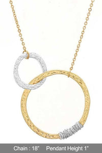 DOUBLE OR NOTHING NECKLACE-WORN SILVER, WORN GOLD - Infinity Raine
