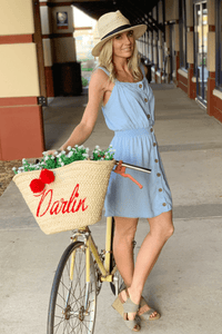 BETTER LATE THAN NEVER BUTTON UP DRESS-LIGHT BLUE DENIM - Infinity Raine