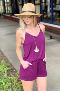 THE POOLSIDE KNIT ROMPER-DEEP PURPLE - Infinity Raine