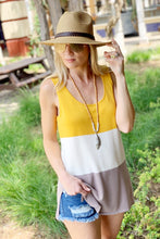 Load image into Gallery viewer, GET OUT THERE COLOR BLOCK TOP-MARIGOLD - Infinity Raine