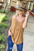 Load image into Gallery viewer, NO NEED TO THINK TWICE V-NECK TOP-COFFEE - Infinity Raine