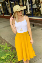 Load image into Gallery viewer, DAY AND NIGHT MIDI SKIRT-MUSTARD - Infinity Raine