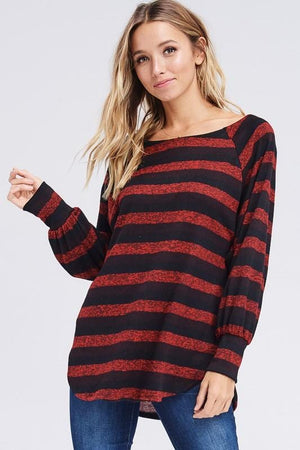 BETTER GET GOING TUNIC SWEATER-RED - Infinity Raine