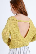 Load image into Gallery viewer, IN THE KNIT OF TIME SWEATER-YELLOW - Infinity Raine