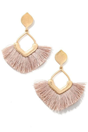 CHIC PERSONA FRINGE EARRINGS-MAUVE - Infinity Raine