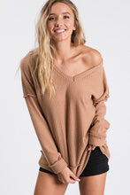 Load image into Gallery viewer, GIVE ME ALL THE JOY WAFFLE KNIT TOP-TAUPE - Infinity Raine