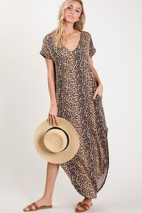 WILDLY OBSESSED LEOPARD MAXI DRESS-LEOPARD - Infinity Raine