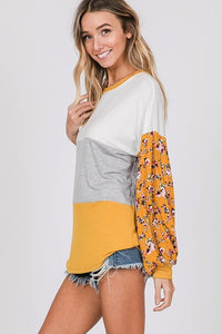 HELLO SUNSHINE TOP-MUSTARD - Infinity Raine