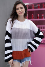Load image into Gallery viewer, OUTSIDE THE LINES STRIPED SWEATER - Infinity Raine