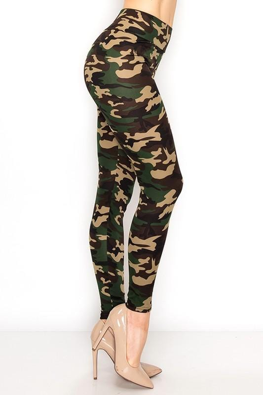 NEVER HIDE HIGH WAIST YOGA LEGGINGS-CAMO - Infinity Raine
