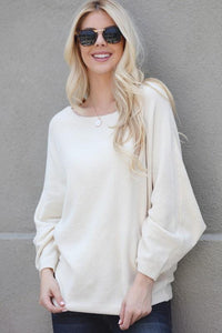 FROSTED MORNINGS PULLOVER SWEATER-CREAM - Infinity Raine