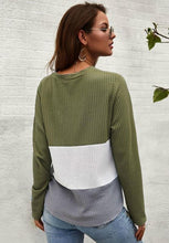 Load image into Gallery viewer, I'M LOVING IT WAFFLE KNIT TOP-GREEN - Infinity Raine