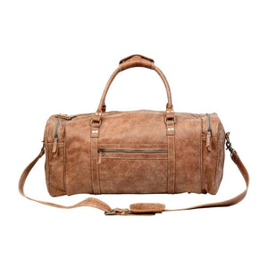 VAGABOND LEATHER DUFFLE TRAVEL BAG - Infinity Raine