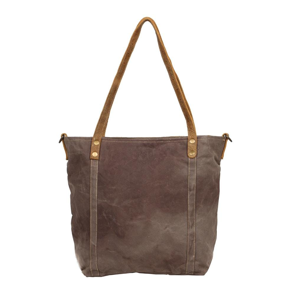 CHARLOTTE EMBLEM SIDE HAIR TOTE BAG - Infinity Raine
