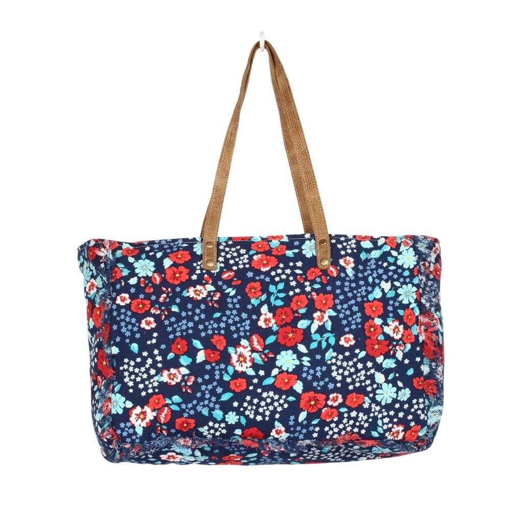 FLAMBOYANT FLORAL WEEKENDER BAG-NAVY - Infinity Raine