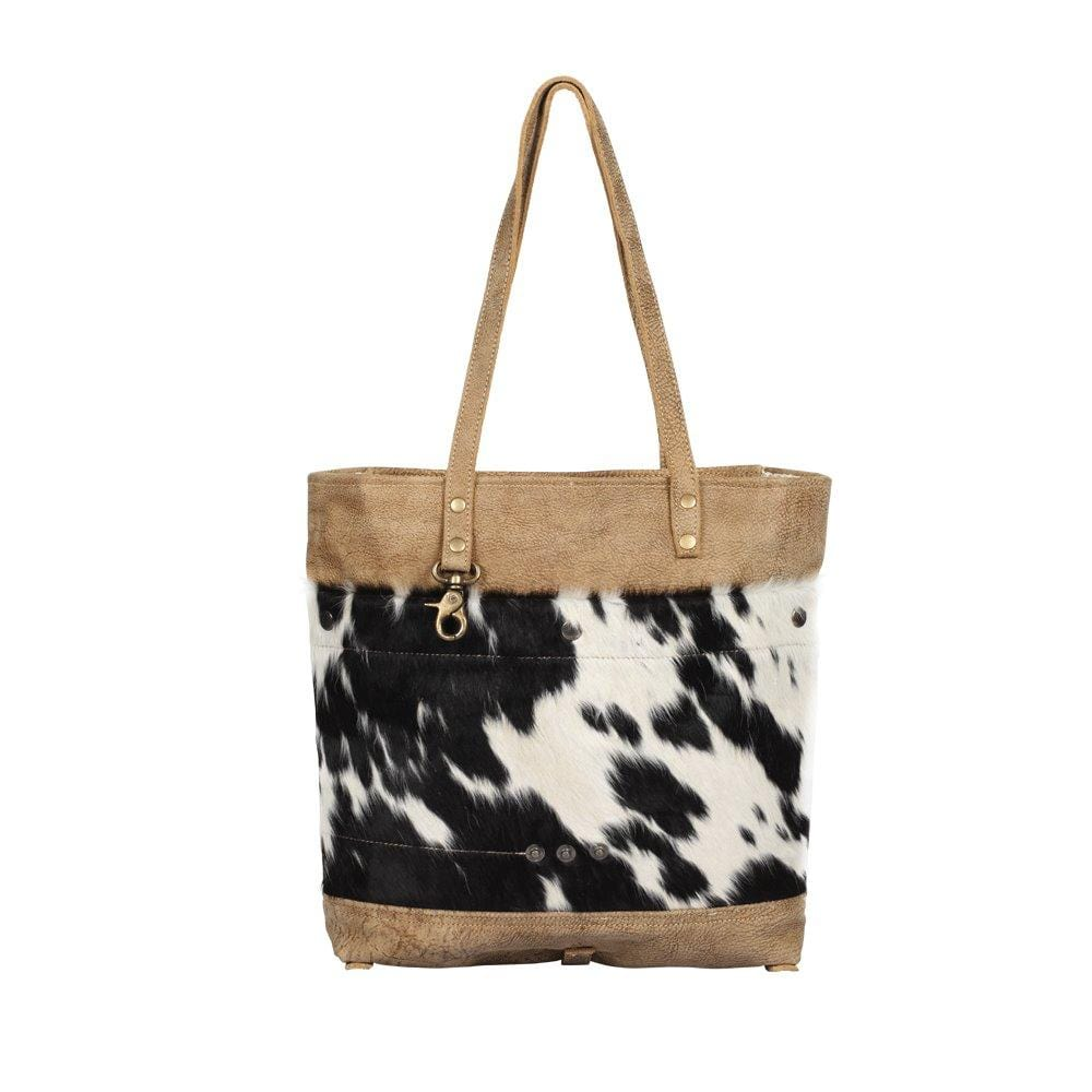 VIVIAN LEATHER AND HAIRON TOTE - Infinity Raine