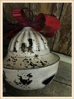Load image into Gallery viewer, DISTRESSED METAL CHRISTMAS BELL-LARGE - Infinity Raine