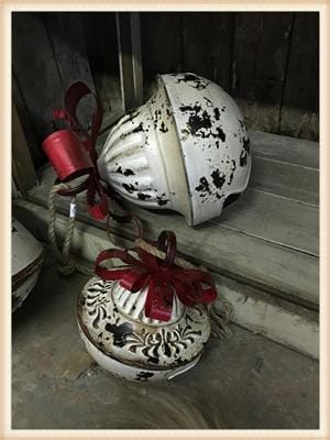 DISTRESSED METAL CHRISTMAS BELL-LARGE - Infinity Raine