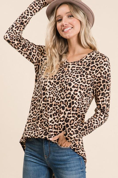 BIG PERSONALITY ANIMAL PRINT TOP - Infinity Raine