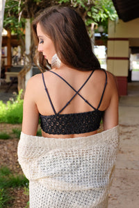 WALK THIS WAY BRALETTE-CHARCOAL - Infinity Raine