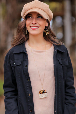 PERFECTLY PLAYFUL NECKLACE-BROWN TORTOISE - Infinity Raine