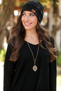 BEAT THE CHILL BEANIE-BLACK - Infinity Raine