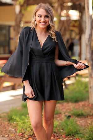 GIRLS NIGHT OUT ROMPER-BLACK - Infinity Raine