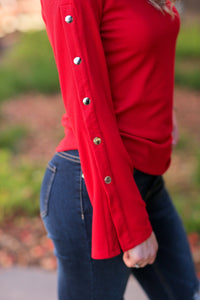 HOT ON THE TRAIL TOP-RED - Infinity Raine