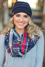 Load image into Gallery viewer, CALL IT FALL  INFINITY SCARF-NAVY - Infinity Raine