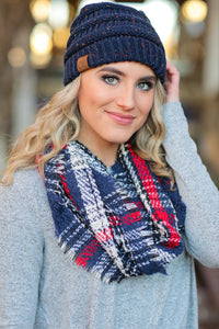 CALL IT FALL  INFINITY SCARF-NAVY - Infinity Raine