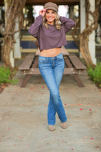 Load image into Gallery viewer, PRETTY LITTLE THINGS CROP TOP-PLUM - Infinity Raine
