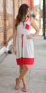 FEELING SOME STRIPE OF WAY DRESS-PINK/PURPLE/NAVY/RED/BLACK/YELLOW - Infinity Raine