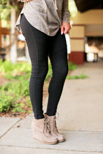 Load image into Gallery viewer, NEED FOR SPEED ZIPPER ANKLE MOTO LEGGINGS-BLACK - Infinity Raine